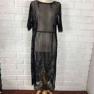 FOREVER 21 PLUS | black sheer lace dress size 2X